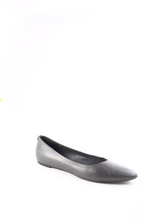 Jil Sander Ballerinas mit Spitze graublau schlichter Stil