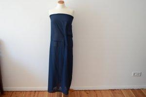 Jil Sander Vestido de noche azul-azul oscuro tejido mezclado