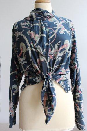 Jil Sander Silk Blouse multicolored silk