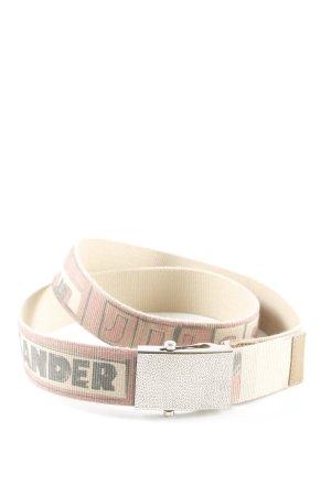 Jil Sander Cinturón de lona beige claro-rojo claro look casual