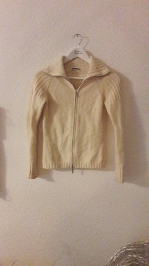 Jil Sander Cardigan Zip Zipper Wolle Strickjacke Rollkragen Knit 34