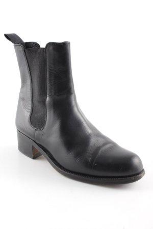 Jil Sander Chelsea Boots schwarz Casual-Look