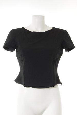 Jil Sander Cropped Shirt schwarz schlichter Stil