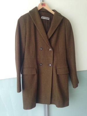 Jil Sander Abrigo de lana marrón-caqui lana de esquila
