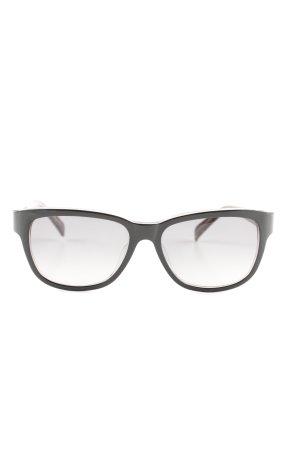 Jil Sander eckige Sonnenbrille schwarz Business-Look