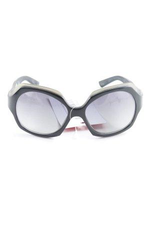 Jil Sander eckige Sonnenbrille schwarz 70ies-Stil