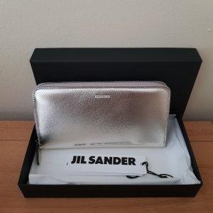Jil Sander Geldbörse Zipp Around Champagner Gold Neu