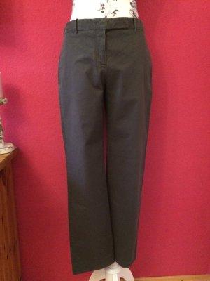 Jil Sander Low-Rise Trousers anthracite cotton