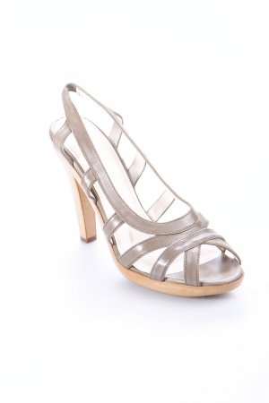 Jil Sander High Heel Sandaletten graubraun Eleganz-Look