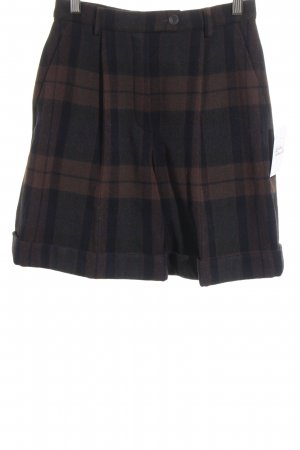 Jil Sander High-Waist-Shorts check pattern casual look