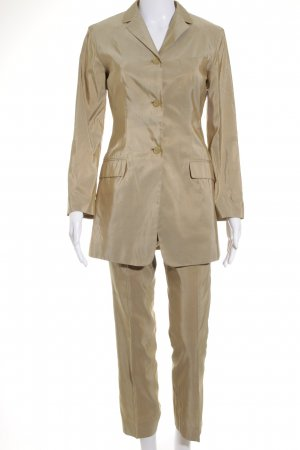 Jil Sander Hosenanzug goldfarben-beige Business-Look