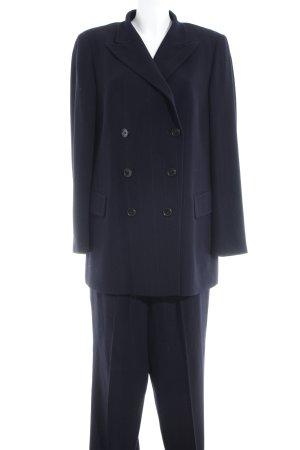 Jil Sander Tailleur pantalone nero-grigio motivo a righe stile professionale