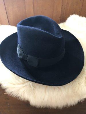 Jil Sander Cappello di lana blu scuro