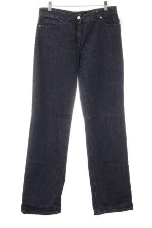 Jil Sander Jeansschlaghose dunkelblau Casual-Look