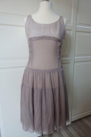 JIL SANDER Kleid, aus Seide, wunderschönes, zartes Flatterkleid in rauchigem Flieder, Größe 40