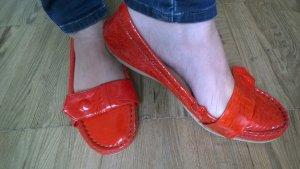 JIl SAnder Lack Ballerinas orange, Gr. 37,5