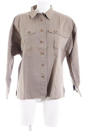 Jil Sander Camisa de manga larga marrón grisáceo look casual