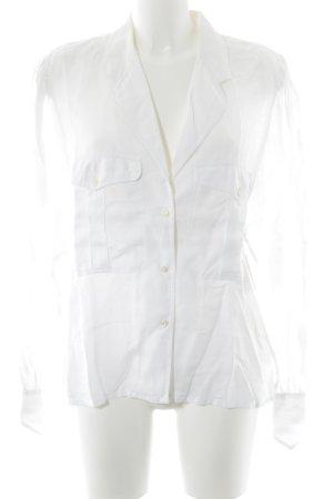 Jil Sander Blusa de lino blanco look casual