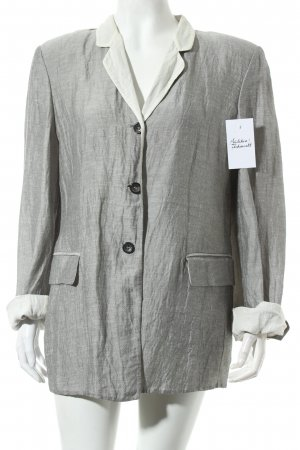 Jil Sander Long-Blazer silberfarben Retro-Look