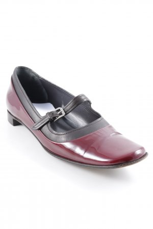 Jil Sander Ballerina Mary Jane marrone scuro-bordeaux elegante