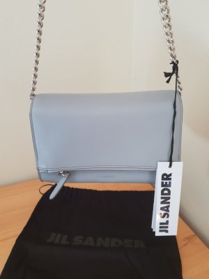 Jil Sander Microbag Leder Grau mit Kette neu  mit Etikett