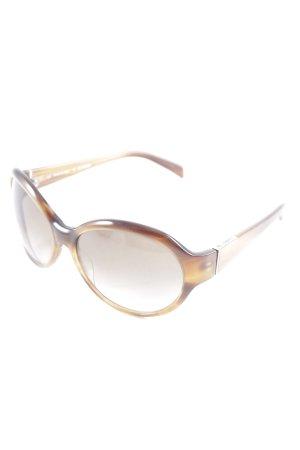 Jil Sander Oval Sunglasses brown casual look