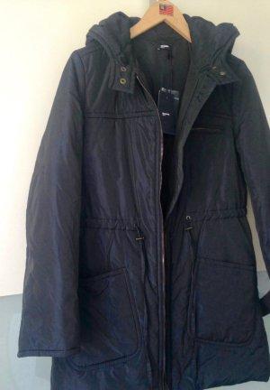 Jil Sander Abrigo con capucha azul oscuro