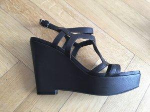 Jil Sander Plateauzool sandalen donkerbruin Leer