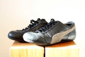 Jil Sander Puma Sneaker Echtleder schwarz grau Gr 39/40 Vintage