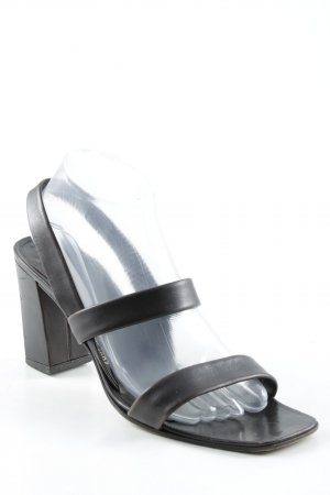 Jil Sander Strapped High-Heeled Sandals black brown casual look