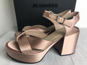 Jil Sander Plateauzool sandalen stoffig roze