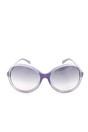 Jil Sander runde Sonnenbrille lila Casual-Look