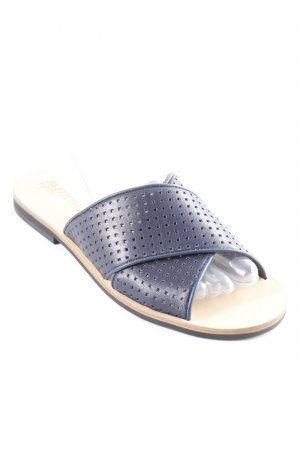 Jil Sander Sabots dark blue-beige simple style