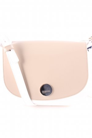 "Jil Sander Sacoche ""Synthetic Saffiano Crossbody Satchel Nude/White"""
