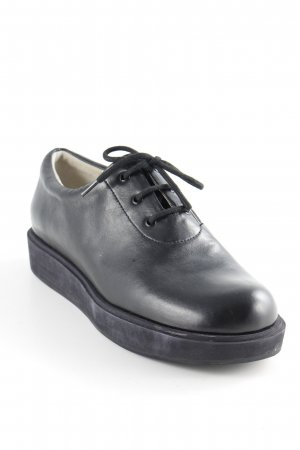 Jil Sander Zapatos brogue negro look casual