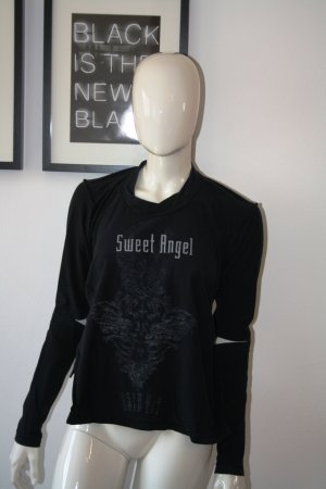 JIL SANDER Shirt Print Flock Inside Out Asymmetrisch XS Blogger Original