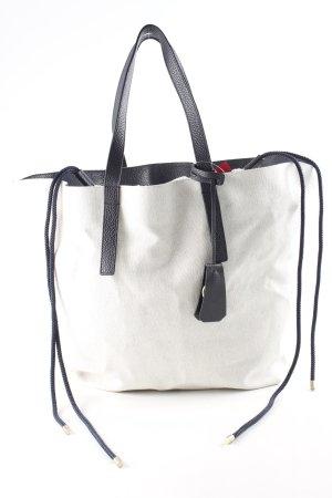 Jil Sander Shopper hellgrau-dunkelblau schlichter Stil