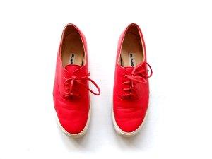 Jil Sander Sneaker Gr. 39 38,5 rot Leder