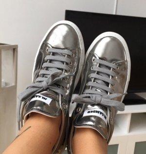 Jil Sander Zapatilla brogue gris-color plata