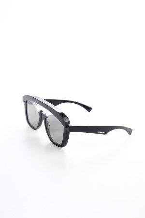Jil Sander Sonnenbrille schwarz extravaganter Stil