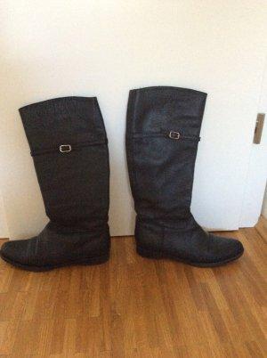 Jil Sander Stiefel aus Leder, schwarz, Größe 38,5, mit Reißverschluß NW