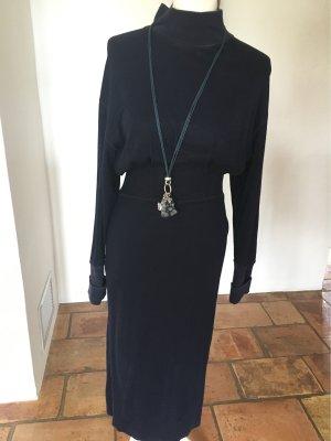 Jil Sander Vestido tejido azul Algodón