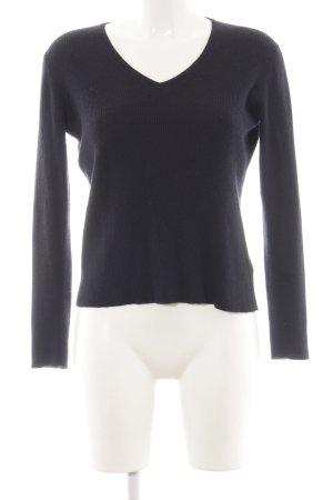 Jil Sander Jersey de punto negro look casual