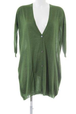 Jil Sander Camisa tejida verde Patrón de tejido look casual