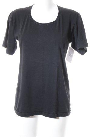 Jil Sander T-Shirt schwarz schlichter Stil