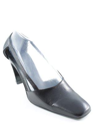 Jil Sander Zapatos de tacón con barra en T negro