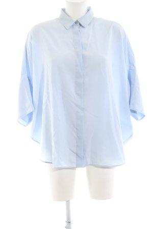 Jil Sander Transparenz-Bluse blau Business-Look