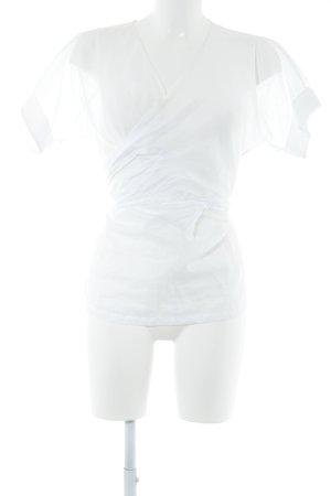 Jil Sander Transparenz-Bluse weiß Casual-Look