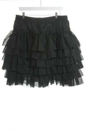Jil Sander Tule rok zwart romantische stijl