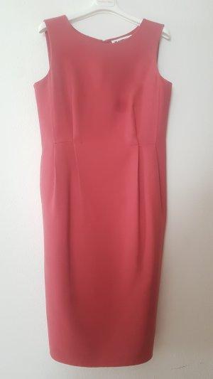 Jil Sander Vestido ceñido de tubo rojo ladrillo-carmín lana de esquila